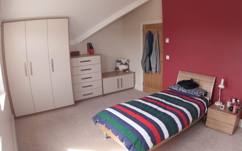 frazer bedroom design with fitted storage