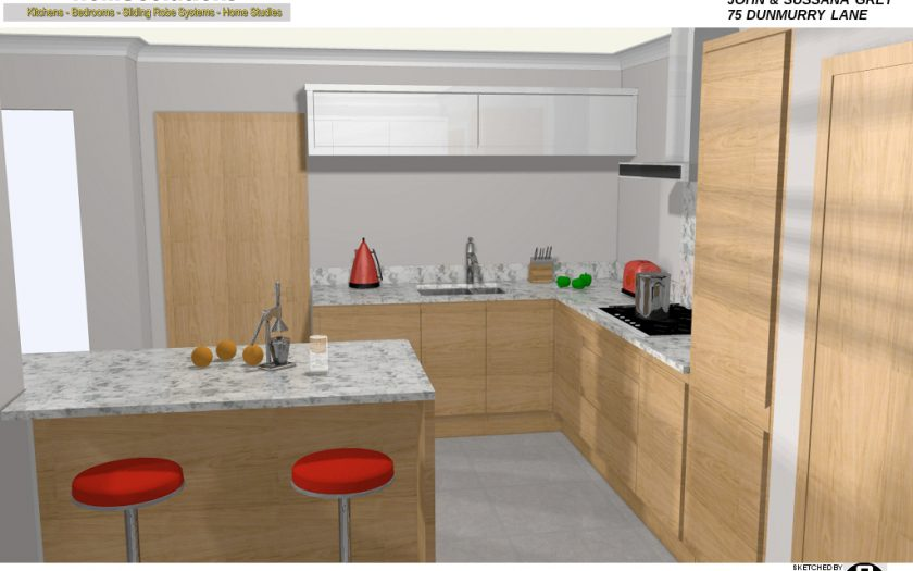 eclectica home solutions kitchen CAD design