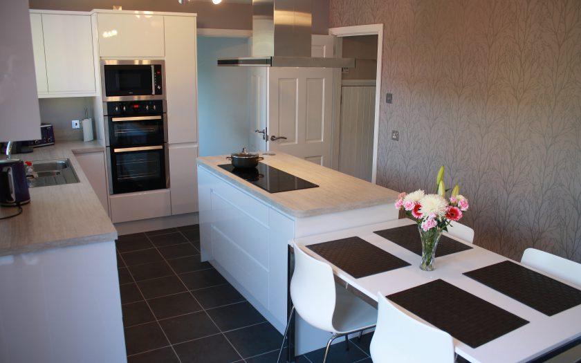 white kitchen design wide image