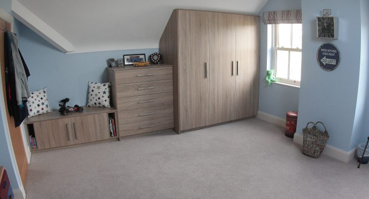frazer childrens bedroom design with fitted storage