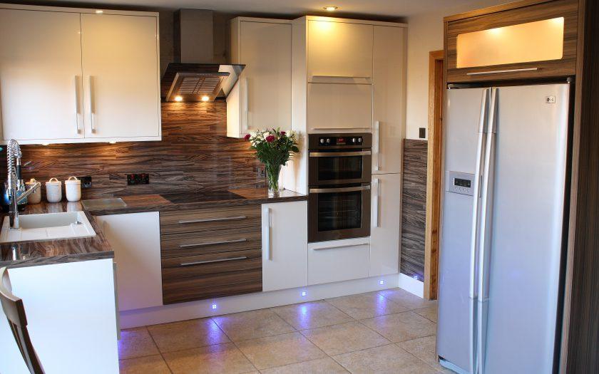 kernaghan kitchen design with floor lighting
